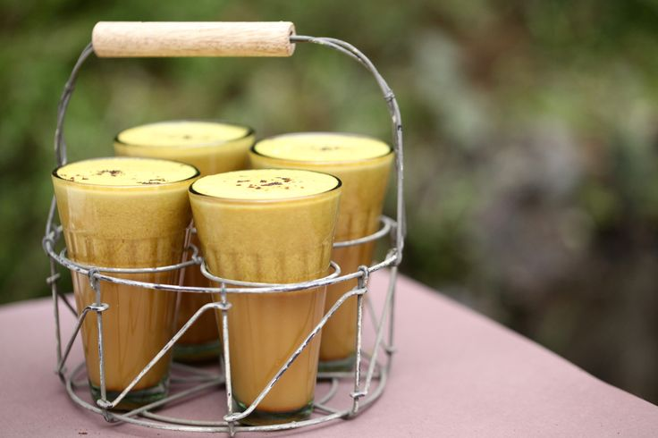 This ancient golden milk is rich, silky, foamy and dairy free. Turmeric is known to be an anti-inflammatory spice cited to also combat cancer and dementia.