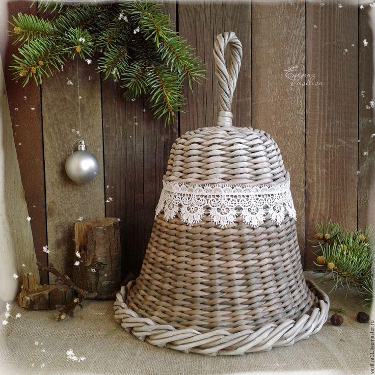 Купить Колокольчик плетеный 'Нарядный' БОЛЬШОЙ - большой колокольчик, нарядный колокольчик, плетеный колокол, новогодний декор