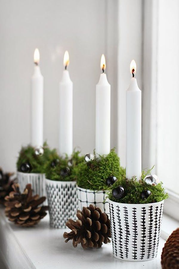ChicDecó: | Advent candles and other DIY ideas with porcelain paint pen