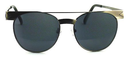 Iconic Metal Clubmaster Sunglasses - 256 Silver