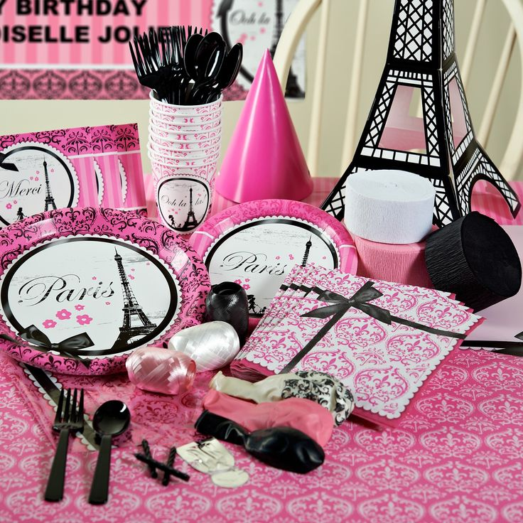 Paris Themed Party Decorating Ideas Part - 18: Paris Damask Party Packs, 86315 Paris +Damask+Deluxe+ Party +Pack Poodle In Paris  Themed Birthday Party Via Karau0027s Party Ideas Poodle In.