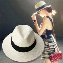 Verão de palha panamá praia chapéus para mulheres chá, Moda clássico cinto jazz chapéu de sol, Chapéu feminino, Sombrero mujer(China (Mainland)) | Pinterest | …