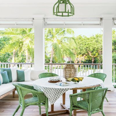 Islanders tend to view verandas as primary rooms, so deep double porches are a hallmark of Caribbean architecture. | Coastalliving.com