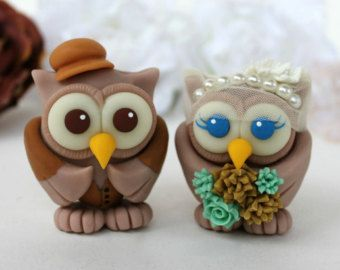 Owl vintage wedding cake topper, burlap seafoam bouquet, country rustic wedding, personalized with banner