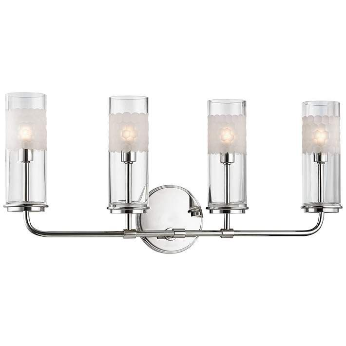 Wentworth 10 1 4 High Polished Nickel 4 Light Wall Sconce 9r611 Lamps Plus Wall Sconce Lighting Sconces Wall Lights