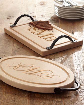 Great wedding gift idea. Maple leaf Cutting Board with monogram.
