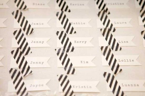 Escort Tags + Washi Tape -★-