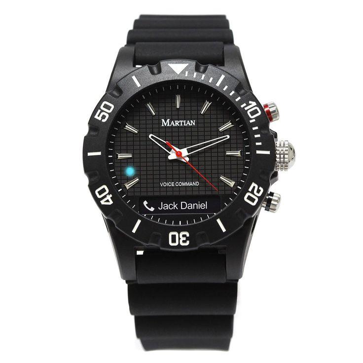 Martian MVR02ENG10 Men's Envoy G10 mVoice Black Ana-Digi Dial Black Silicon Strap Smartwatch