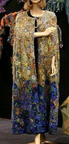 "by Prudence Mapstone ""reminds me of Klimt""... another pic of my 'midnight to first light' cape, this time repinned from my friend Melba's board"