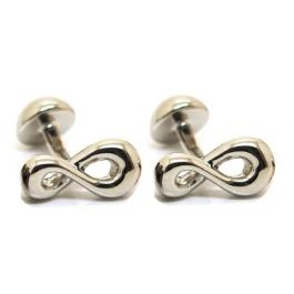 Babette Wasserman - Infinity Rhodium Cufflinks - one of our most popular cufflinks