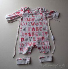 cut apart baby sleeper