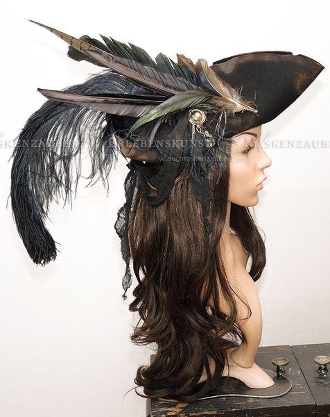Hüte - Piratenhut-Kapitänshut-Captains Hat-Dreispitz - ein Designerstück von Maskenzauber bei DaWanda