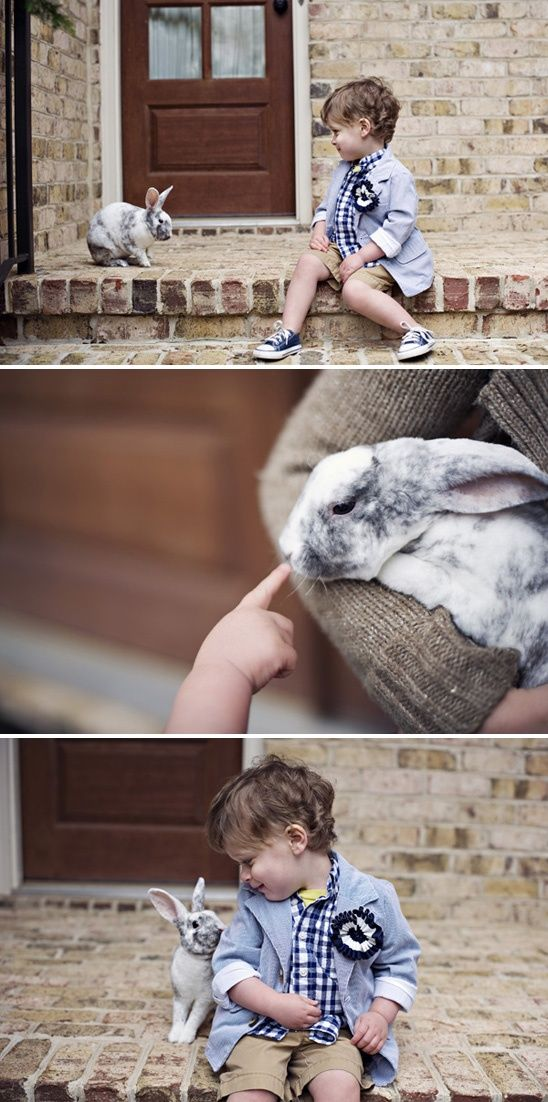 bunny + little boy = adorable
