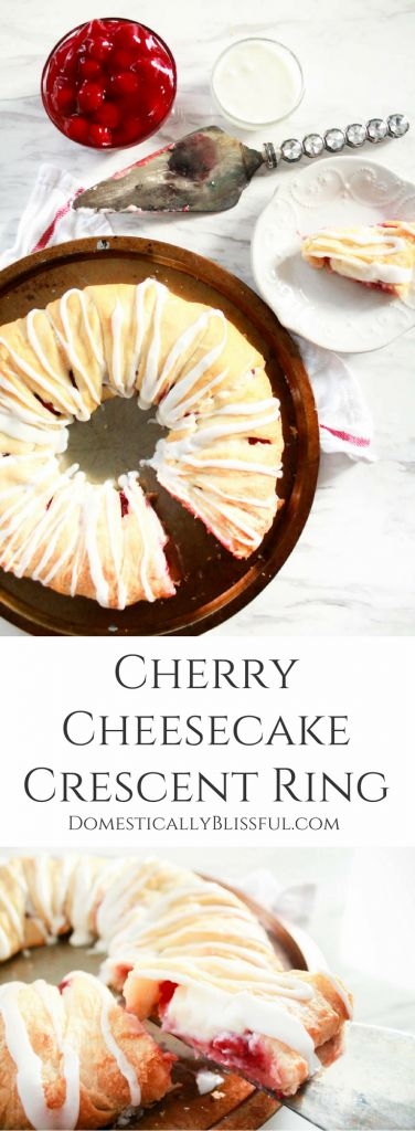 This Cherry Cheesecake Crescent Ring is delicious for breakfast, brunch, dessert, parties, holidays, or anytime you want a simple & quick treat! #ad #holidaysmadeeasy #savealotinsiders