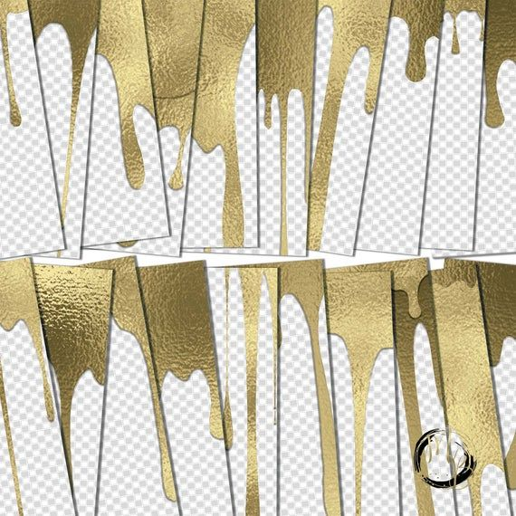 Gold Dripping Foil Overlays Metallic Gold Liquid Paint Drips With Transparency Intact Add Your Own Background 20 12x12 Png Overlays Transparent Digital Overlays Overlays