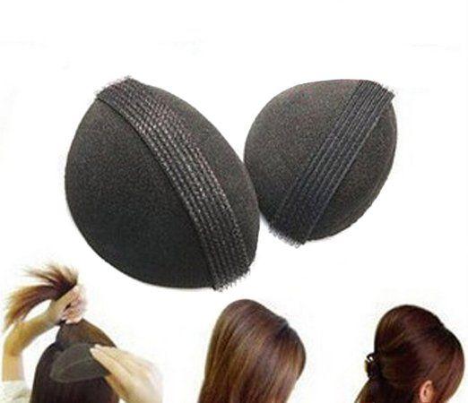 Bump It Up Volume Base per capelli, capelli da donna, a forma di alveare, retina per acconciare capelli, chignon Treccia Clip per utensili, accessori per capelli, colore: nero
