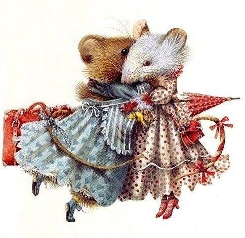 Винтажные открытки мышки, днем врача открытка