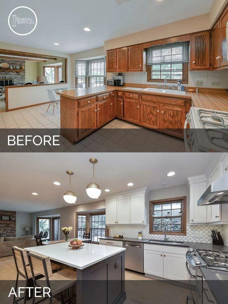 Before And After Kitchen Remodeling Naperville Sebring Services Fosterginger Pinterest Kitchen Remodeling Projects Kitchen Transformation Kitchen Renovation
