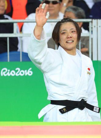 <五輪柔道>女子70キロ 田知本が日本女子初の金メダル