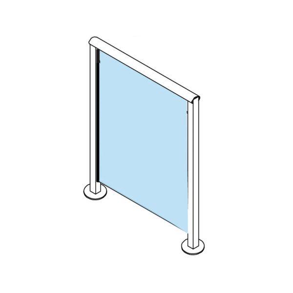850mm Ht 10mm Glass Panels Glass Fence Glass Panels Diy Pool Fence