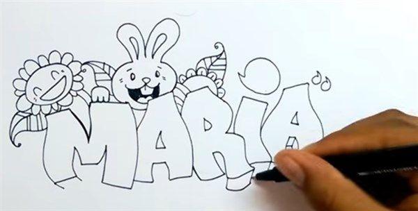 paso 3 para dibujar letras en graffiti