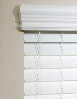 One option for shallow mount blinds:  Mount on the inside and cover the hardware that sticks out with a cornice.