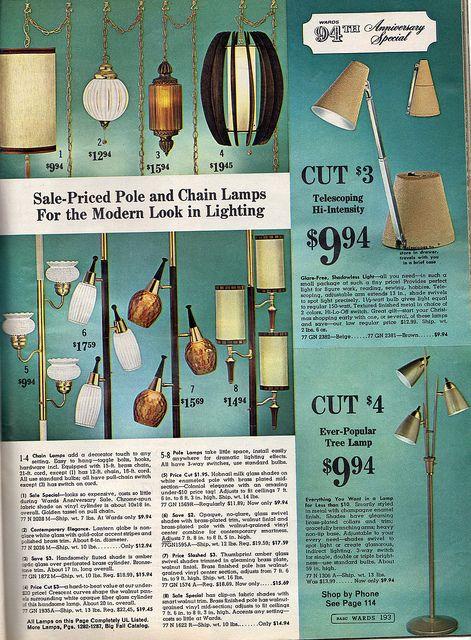 1966 Pole & Chain lamps, Montgomery Ward <3