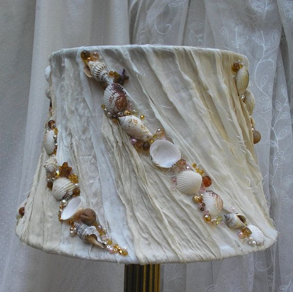 Hey, I found this really awesome Etsy listing at https://www.etsy.com/listing/196245802/beach-cottage-lamp-shade-with-shabby