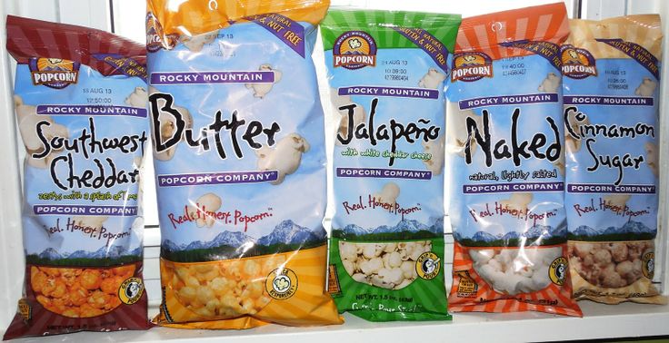 Different Brands of Popcorn | Rocky Mountain Popcorn company makes all different flavors of popcorn ...