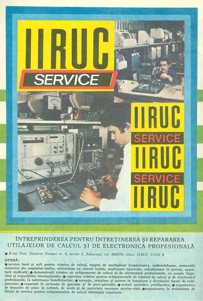 Reclama IIRUC Service - #retro #advertising #romania