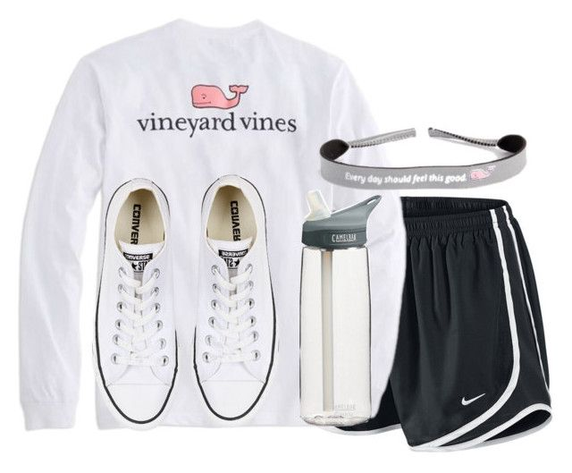 """""""Untitled #686"""" by preppygirl13 ❤ liked on Polyvore featuring NIKE, Vineyard Vines, Converse and CamelBak"""