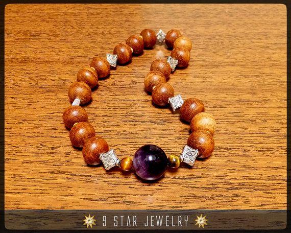 "Baha'i Prayer Beads  ""The Peace Wood"" ( Alláh-u-Abhá ) by 9StarJewelry #bahai #bahaiprayerbeads #9starjewelry"