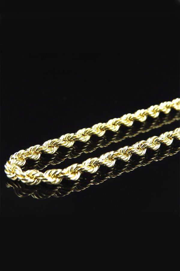 10k Yellow Gold Necklace Mens Women S Rope Chain 2mm 16 30 Goldchain Yellowgold Menschain Womens Chain Ropechain Neckl Gold Chain Necklace Gold Rope Chains