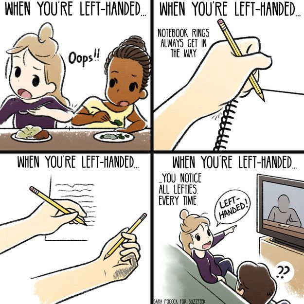 When you're left handed...