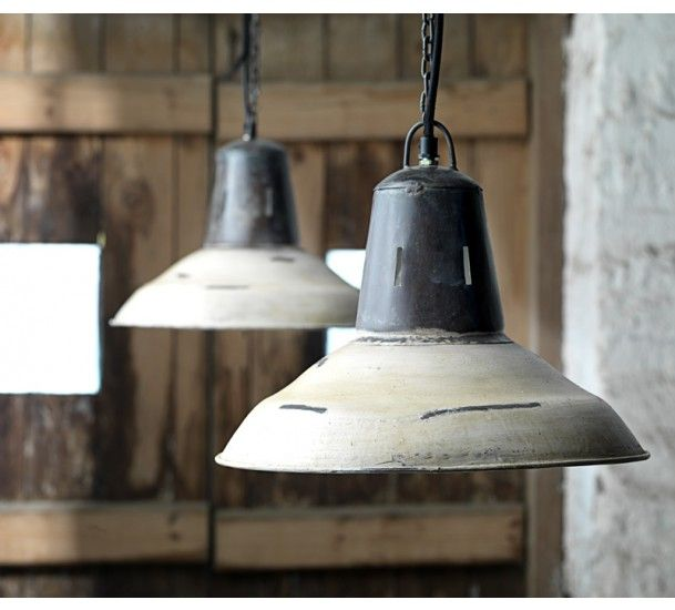Juta Loftlampe - Loftlampe i rustfarve og hvid