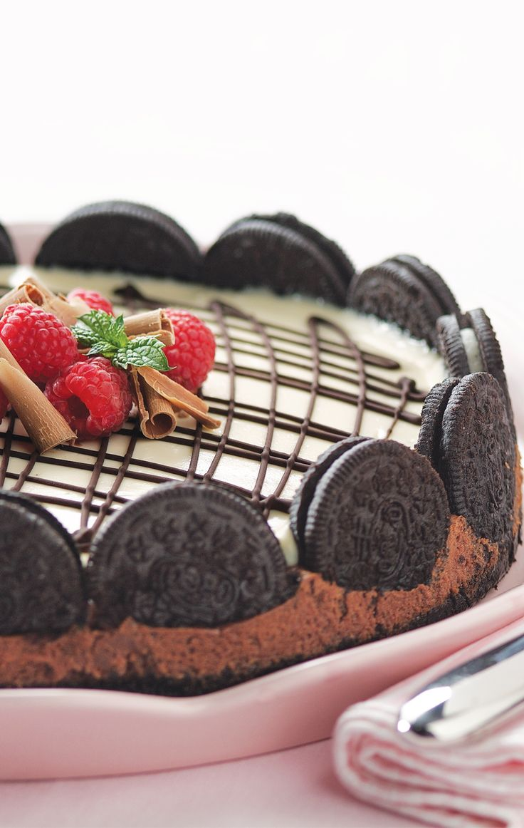 Crush OREO cookies not hearts. Treat your honey to some sugar with this luscious cheesecake.