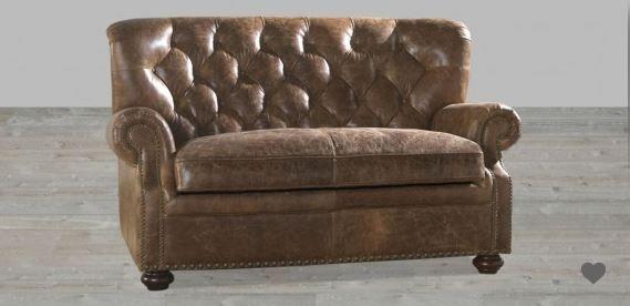 100 Full Grain Brompton Leather Vintage Loveseat Love Seat Vintage Loveseat Loveseat Living Room