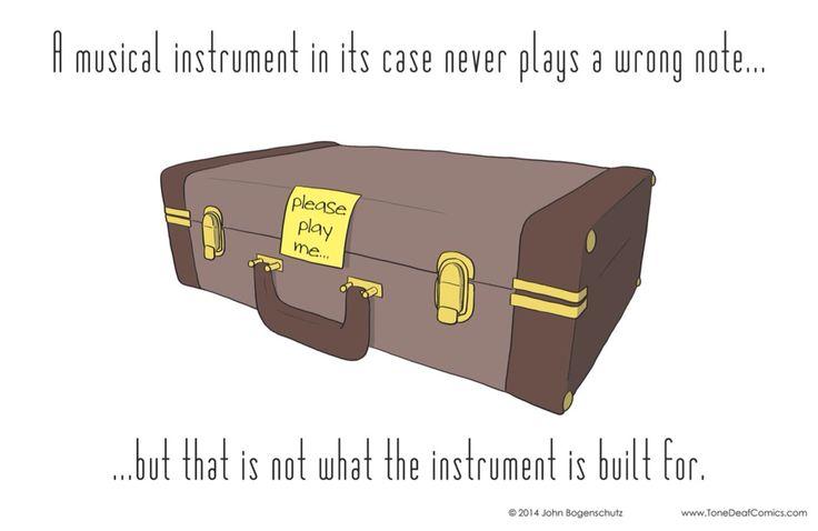 An instrument in its case - Tone Deaf Comics