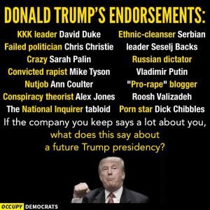 Funny Donald Trump Pictures and Viral Images: Donald Trump's Endorsements