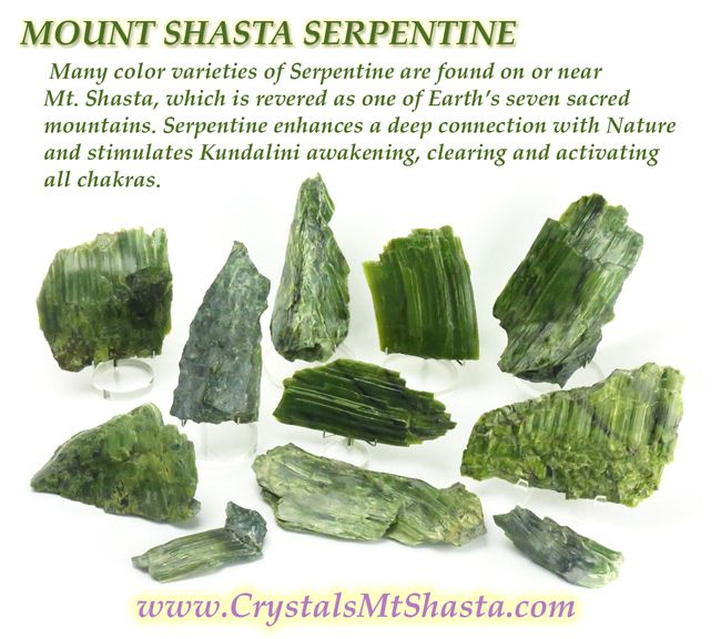 Crystal of the Day - Serpentine - The Crystal Room Crystal Tones Mt Shasta Store