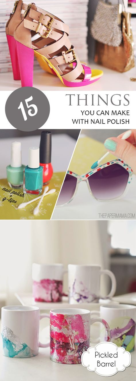 Best 25 nail polish for kids ideas on pinterest kids nail 15 things you can make with nail polish prinsesfo Images