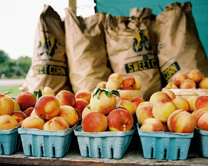 peaches at a roadside stand - I can't wait for summer || rachel hulin photographer  || rachelhulin.com