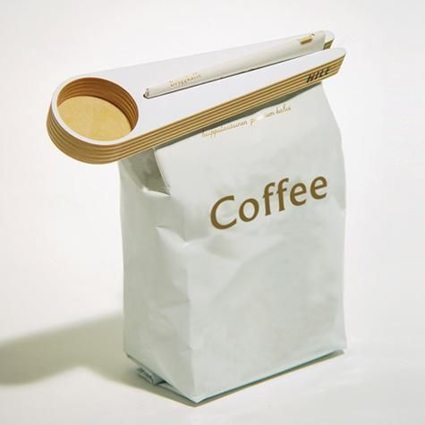 The Kapu Coffee Scoop and Bag Closer, designed by Teemu Karhunen, is an organic Finnish-made kitchen accessory that functions both as a coffee scoop and a bag sealer to maintain coffee freshness. The Kapu is made from birch plywood and is available at Finnish Design Shop for $26