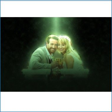 A spotlight from #heaven for the newly wed...add #awesome photo effects to your #wedding #photos at jazzypics.com