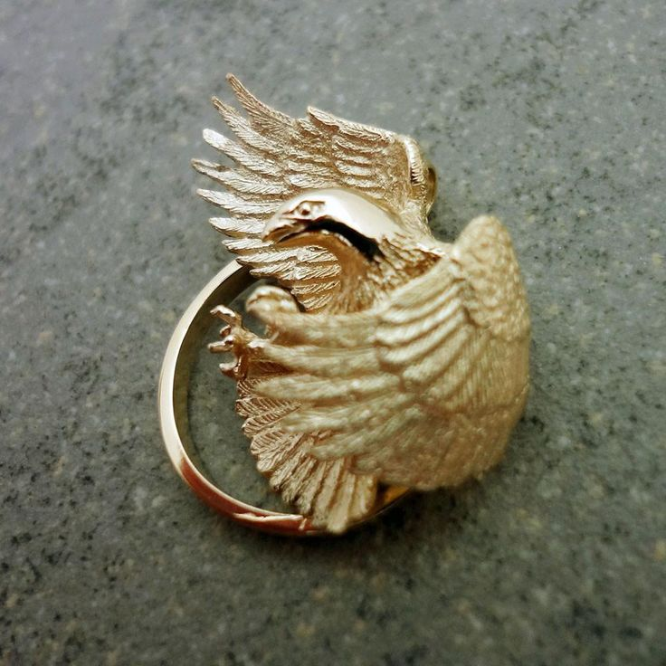 Love to give this to my sister...Bald Eagle pendant charm Silver 18k USA realistic 3D independence bird handmade endangered – All Animal Jewelry