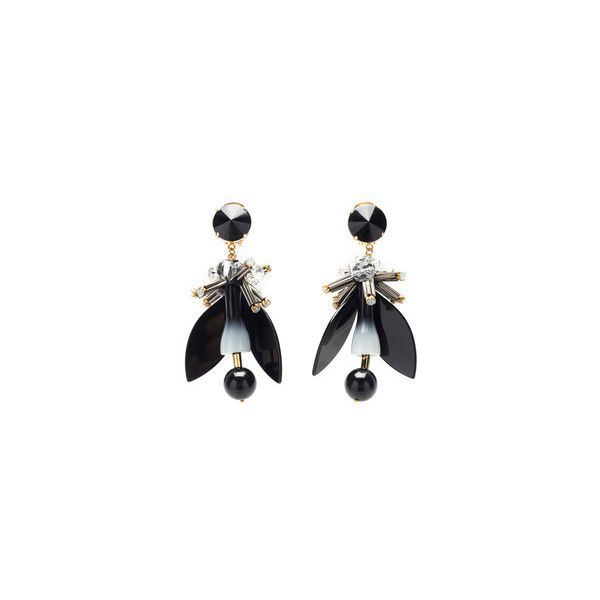 Marni Beads Earrings in Lily White Resin vQusnwaT