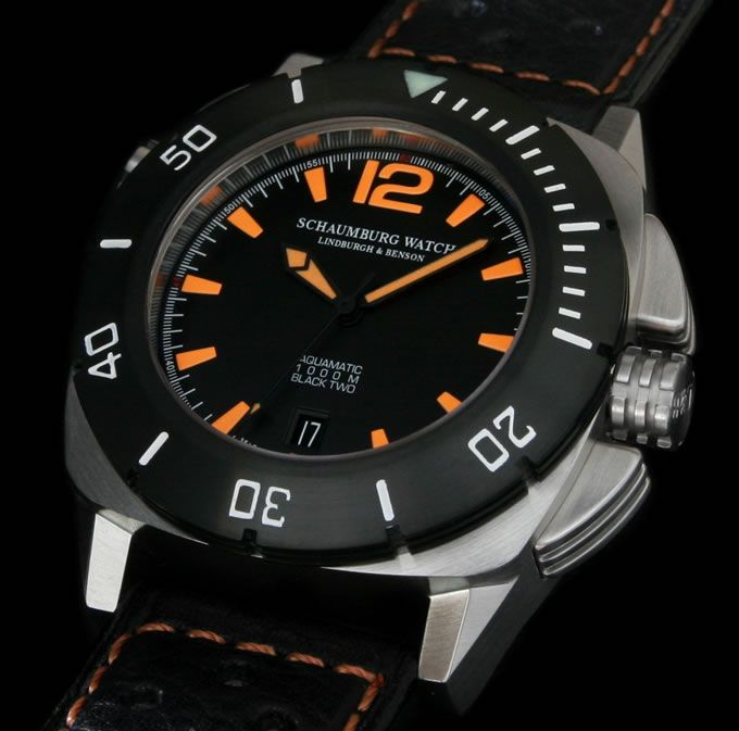 Schaumburg Watch Aquamatic Ii Black