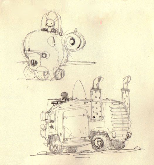 Sketches from Mike Yamada