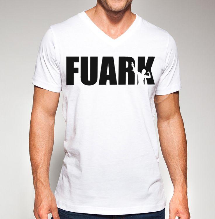 Zyzz V-Neck T-shirt designed by Ripped Generation! #Zyzz #FUARK #RippedGeneration #GymWear #VNeck