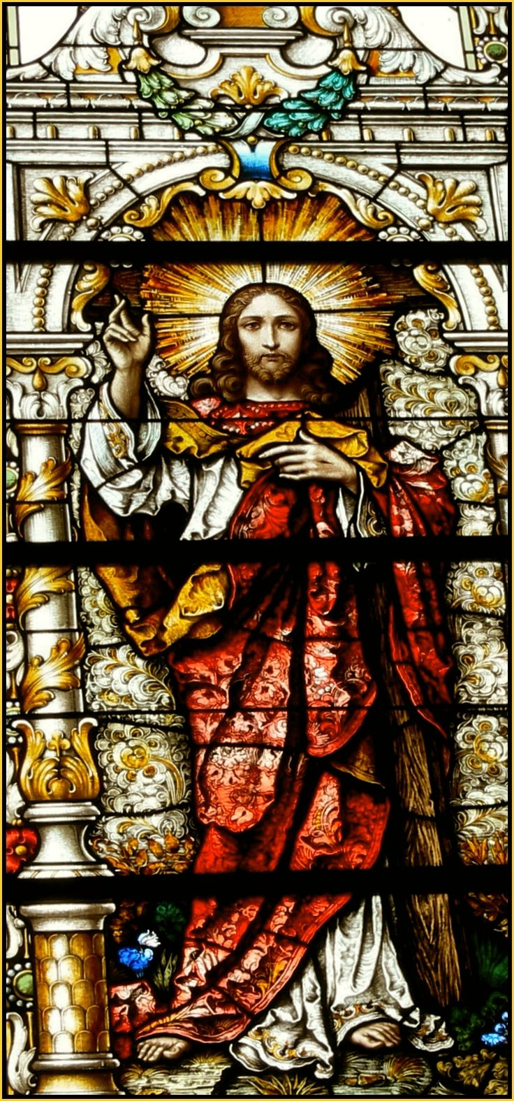 Christ the Redeemer ~ stained glass